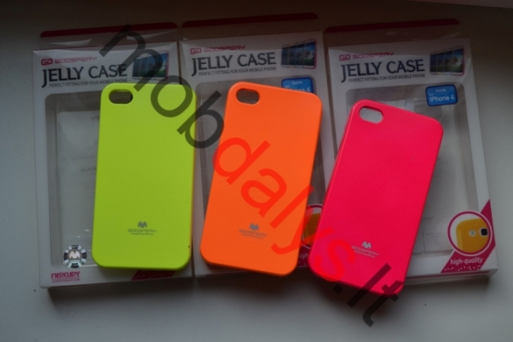 Apple iPhone 4, 4s fluorasenciniai dėklai Mercury Jelly Case
