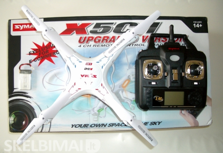 TIK 75eur Naujas originalus dronas SYMAx5C SU HD VIDEO KAMERA