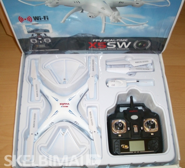 Naujas dronas SYMA X5SW WiFi FPV su HD video kamera