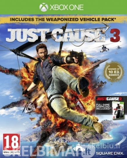 parduodu Just Cause 3 xbox one