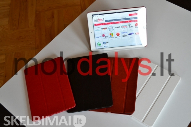 Apple iPad Air, Air 2 dėklai Leather Smart View, mobdalys.lt