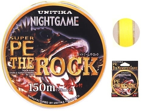 Pintas PE valas Unitika Night Game The Rock #1.2, 150m.