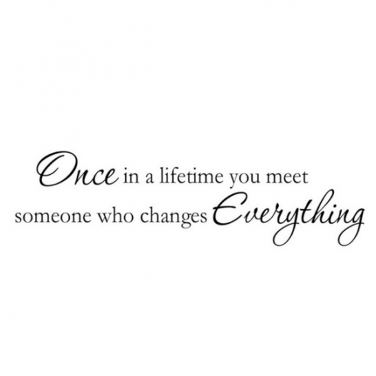 "Sienos lipdukas ""Once in a lifetime you meet someone who changes everything"""