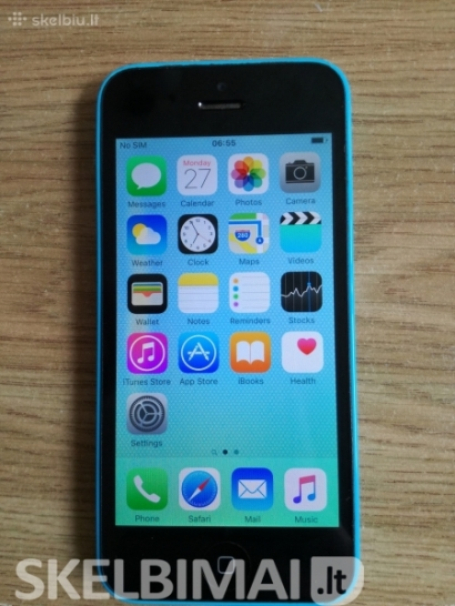 iPhone 5c mėlynas 16 GB