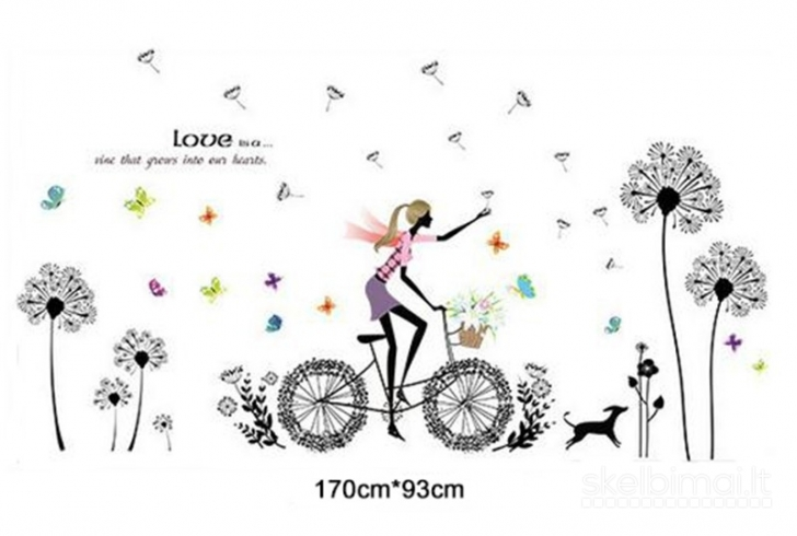"Sienos lipdukas ""Girl On The Bike"""