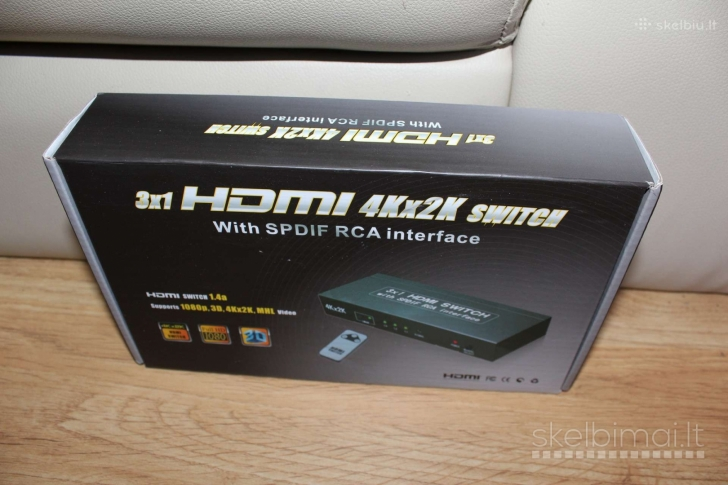 Audio video Switch Input HDMI  Output HDMI RCA Optic